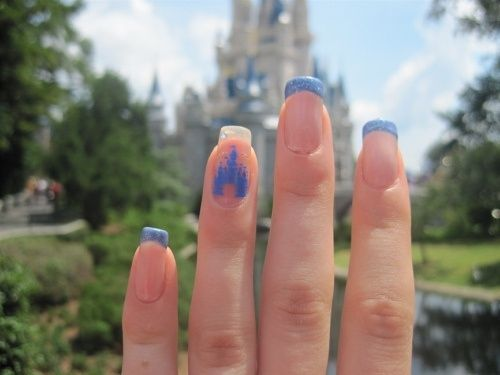 Disney world cinderellas castle inspired nails disney nails disney world cinderellas castle inspired nails disney nails disney nail art disney nail prinsesfo Image collections
