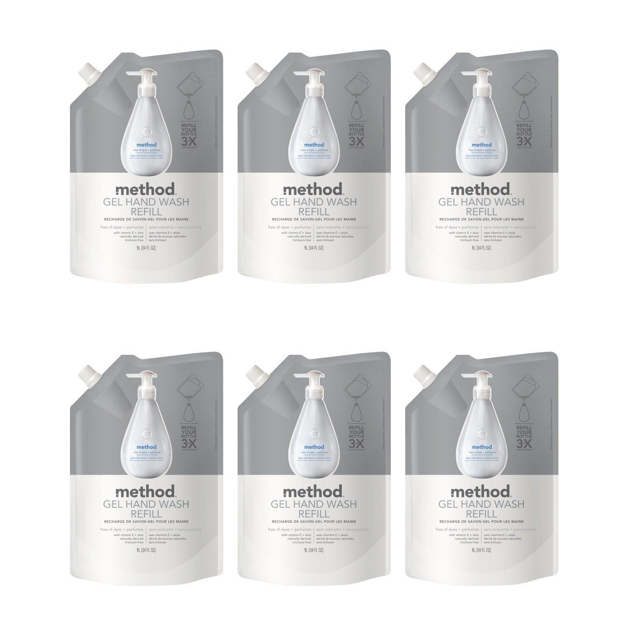 Method Gel Hand Soap Refill Free Clear 34 Ounce Pack 6 You Can