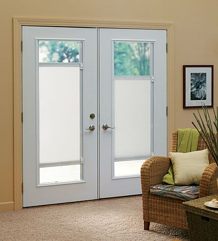 Bi Directional Touch Shades For French Door