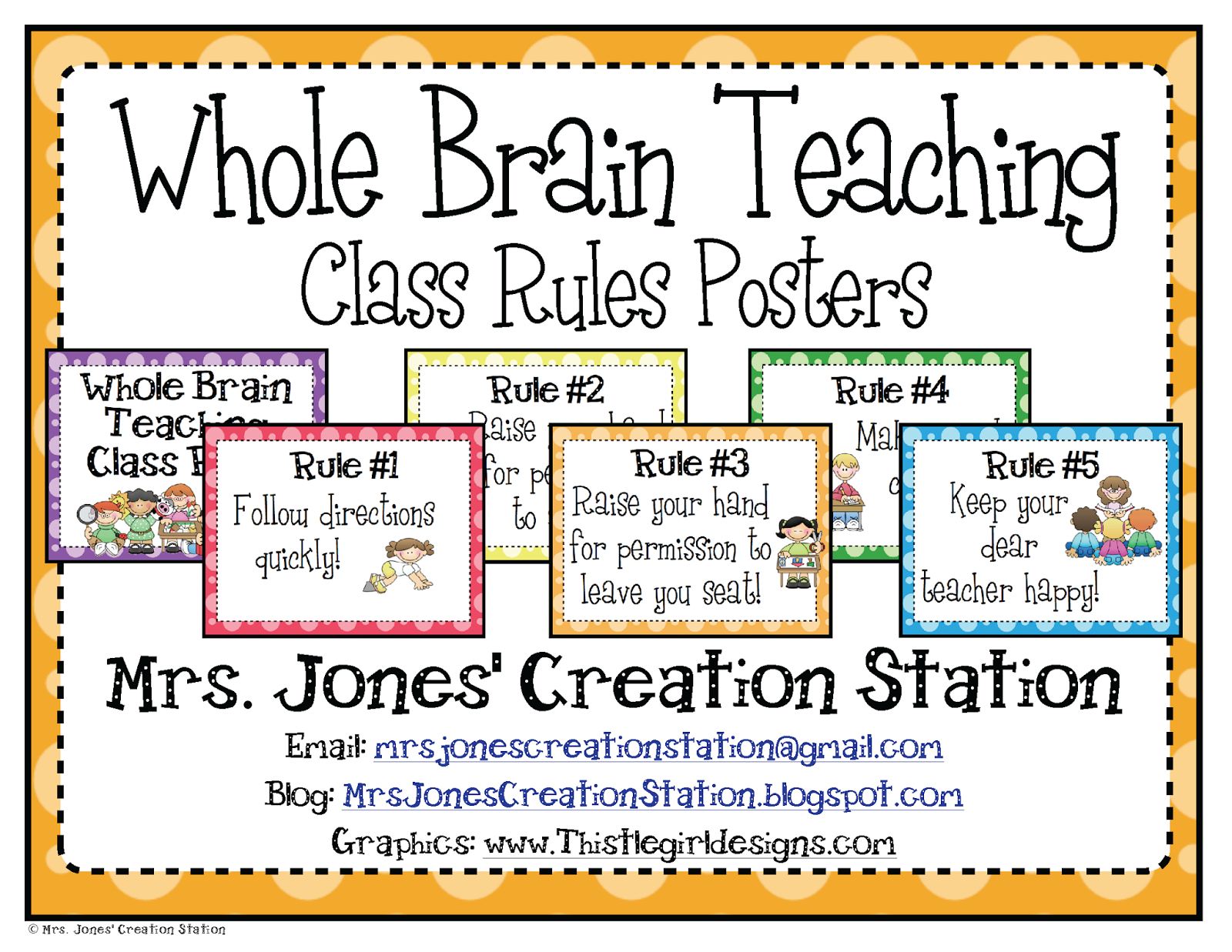 Poster design for class 5 - Whole Brain Teaching Class Rules Posters Freebie