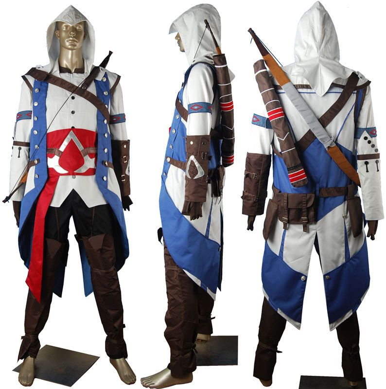 Assassins Creed Connor Kenway cosplay costume pirate costume toys for kids  children unique halloween costume comic-con anime costumes xmas gift