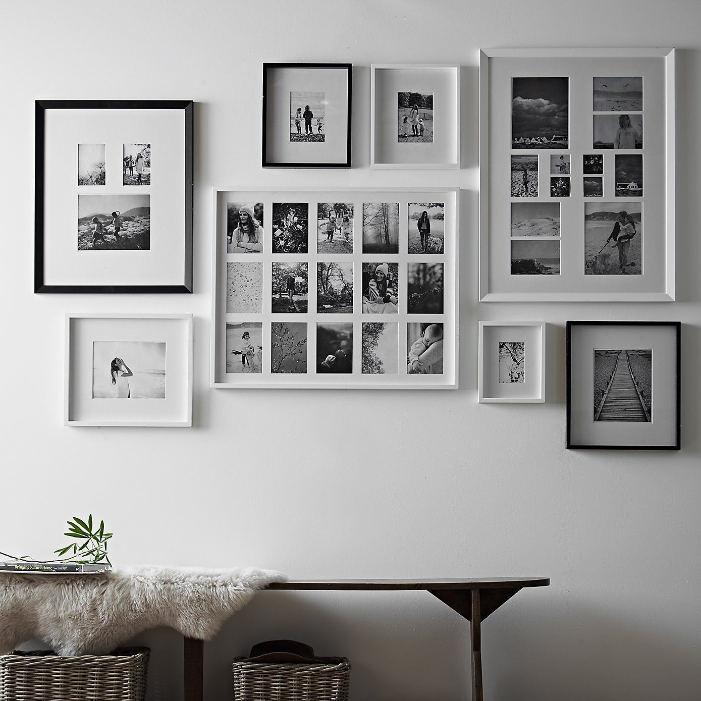 12 Aperture Wooden Frame White The White Company Shopping From The Us Http Us Thewhitecompany Frames On Wall Gallery Wall Inspiration Picture Frames