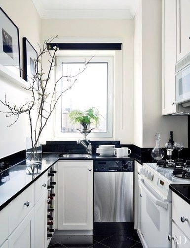 Why You Can't Go Wrong With White Kitchen Cabinets  Galley Delectable Black And White Kitchen Designs 2018