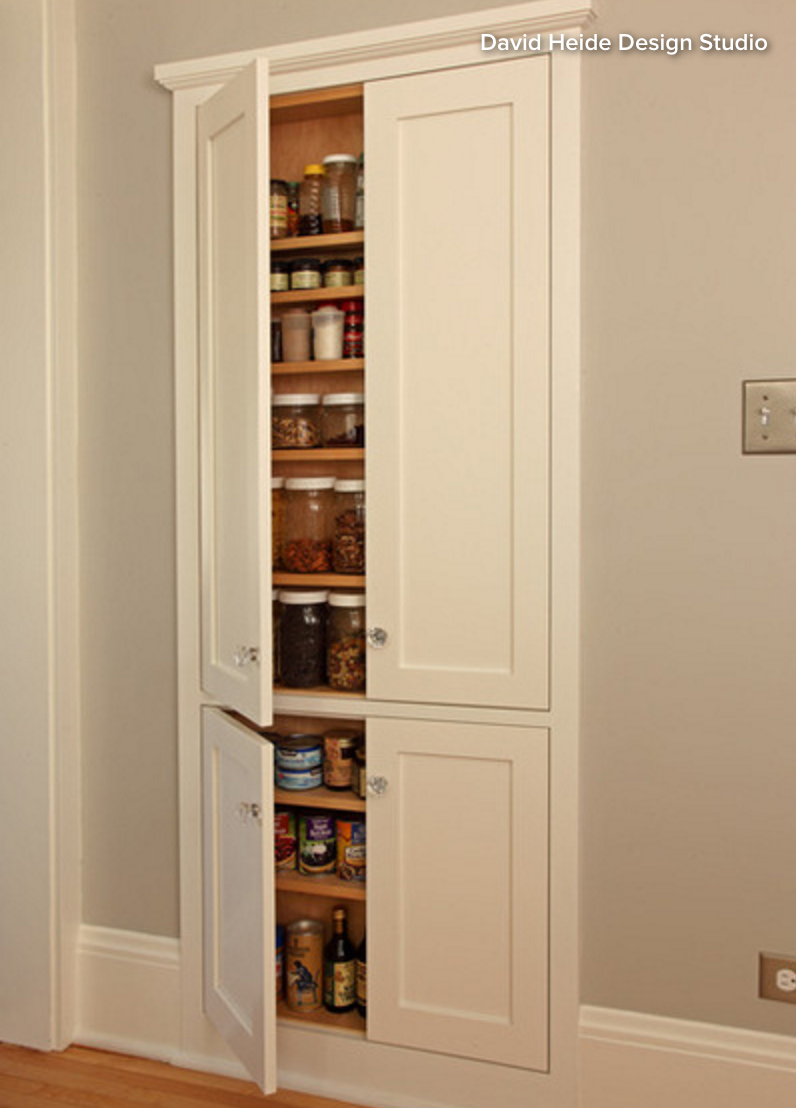 In Wall Pantry Cabinet What I Want Half Of It The Left Side For The Hallway Pantry Closet Maybe Not T Clever Kitchen Storage Craftsman Kitchen Wall Storage