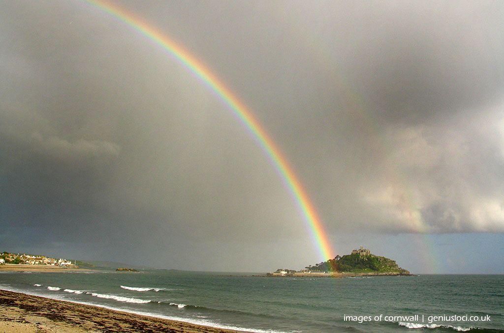 Rainbow St Michaels Mount Cornwall