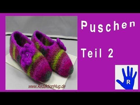 Häkeln - Puschen - Pantoffeln - Filzen Teil 1 - YouTube   kreatives ...