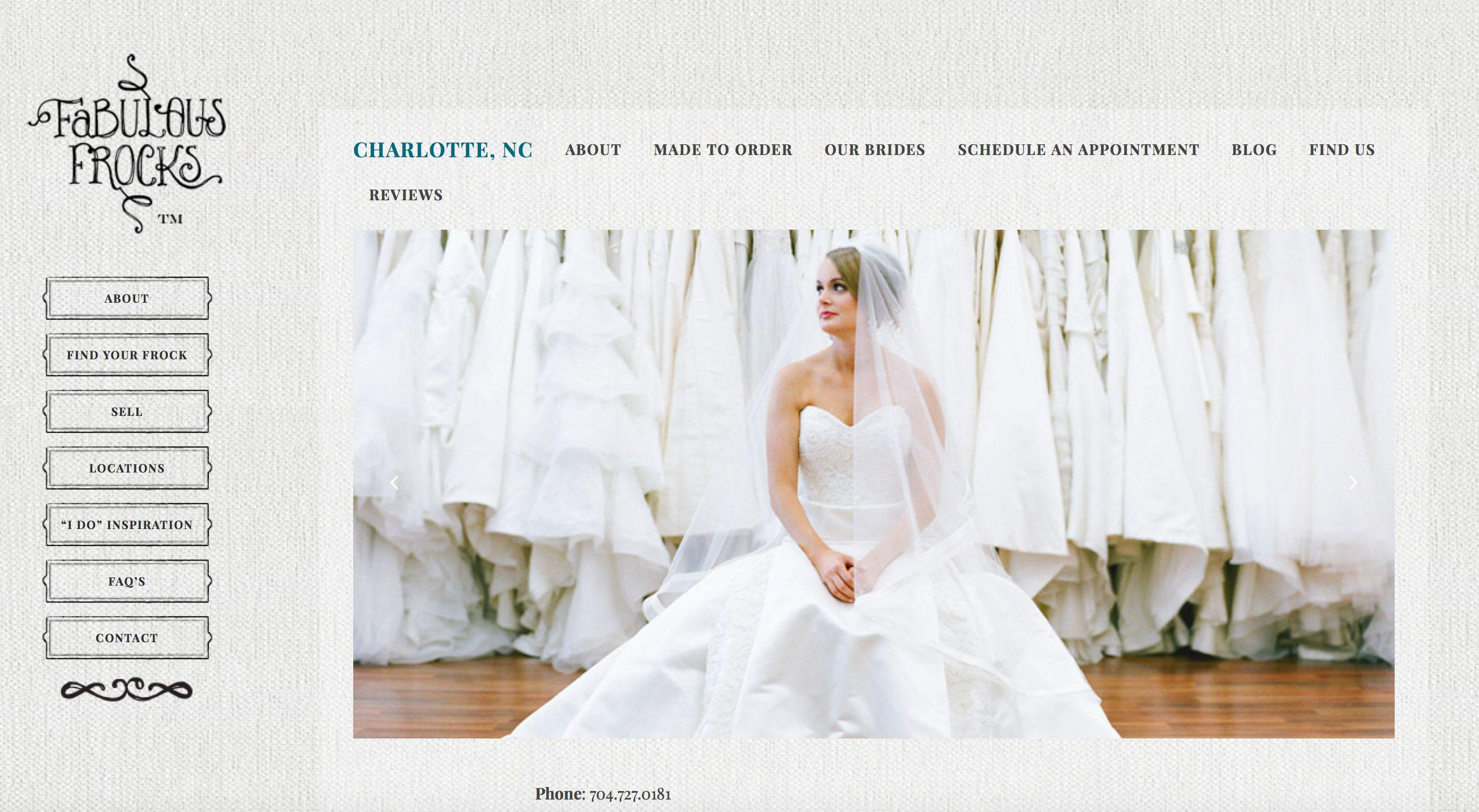 Fabulous Frocks | Charlotte, NC Bridal Shop | Charlotte, NC Wedding ...