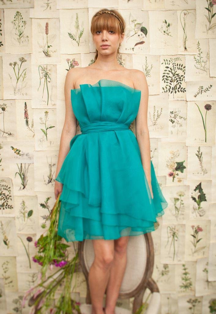 Tea Length Turquoise Bridesmaid Dresses