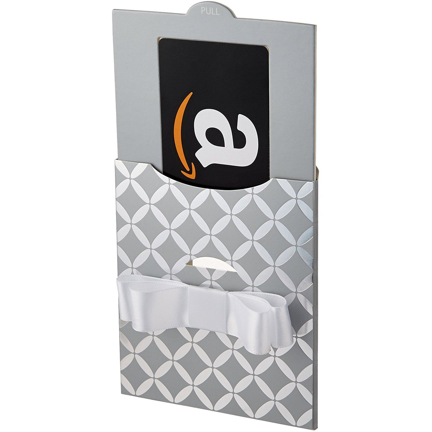 Gift card in a silver reveal classic black