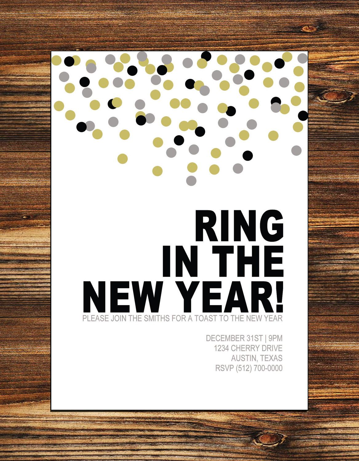 printable new years party invitation digital file 1500 via etsy
