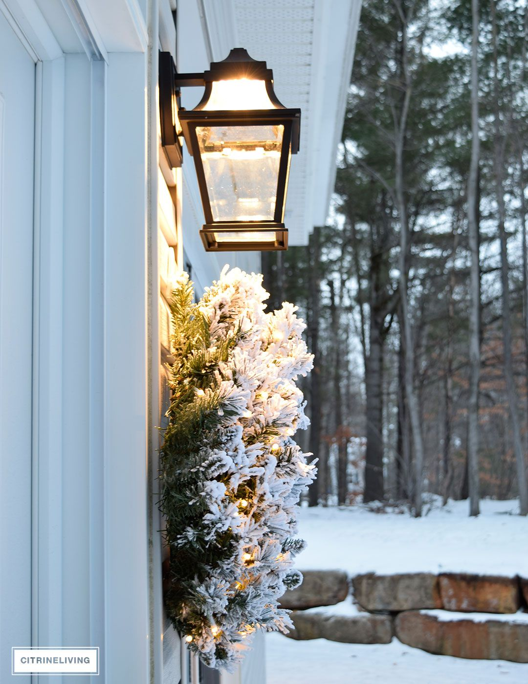 Window well decor  outdoor christmas decor and new lighting  wall sconces porch and