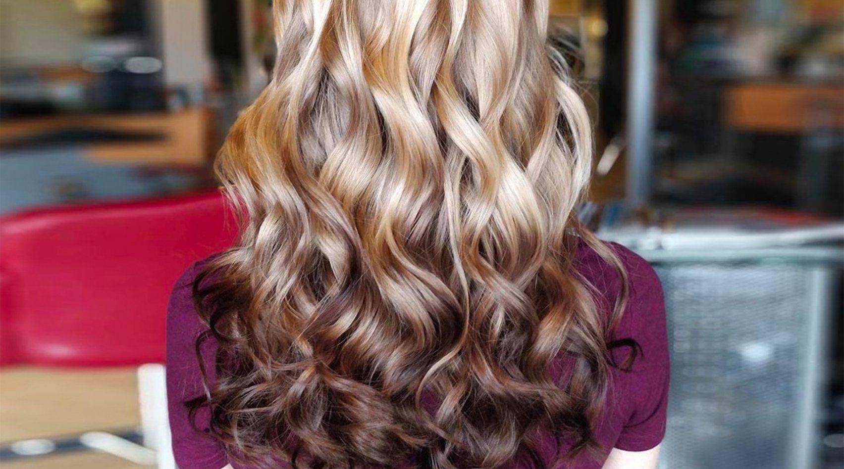 Haarfarben oben dunkel unten hell - Pony frisur