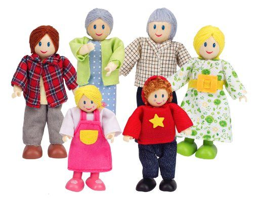 hape - happy family doll house - doll family - caucasian hape http