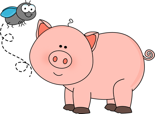 Fly And Pig Clip Art Fly And Pig Image Pig Images Pig Painting Pig Cartoon