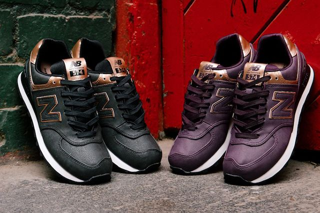 new balance 574 leather sneaker