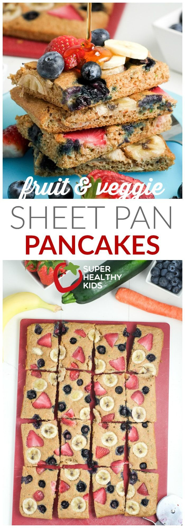 Fruit & Veggie Sheet Pan Pancakes #obstgemüse
