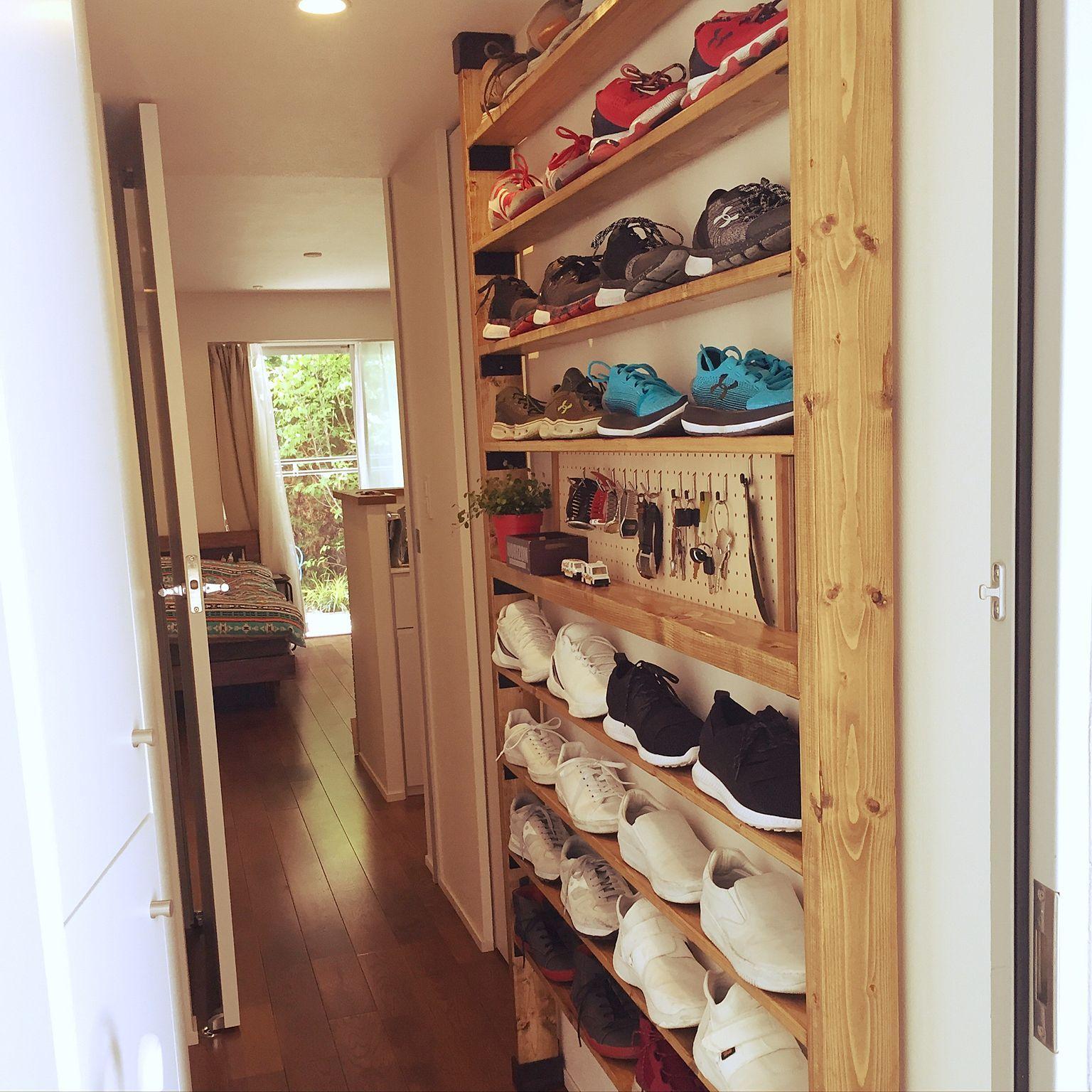 ab9176f35f Entrance/靴/ワンルーム/DIY/靴収納/シューズラック...などのインテリア実例 - 2017-06-12 08:49:59    RoomClip (ルームクリップ)