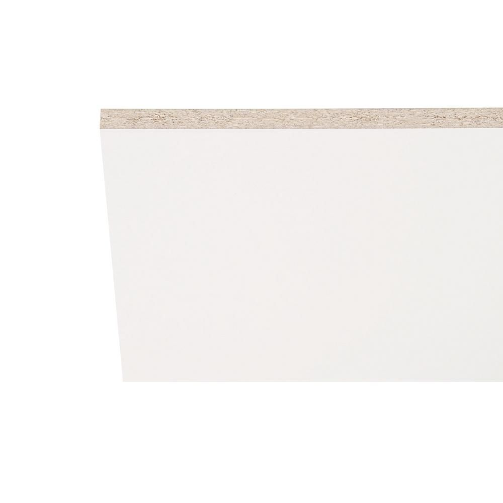 Melamine White Shelf Board Common 3 4 In X 15 3 4 In X 8 Ft Actual 0 75 In X 15 75 In X 97 In 1605490 Shelf Board Melamine Shelving