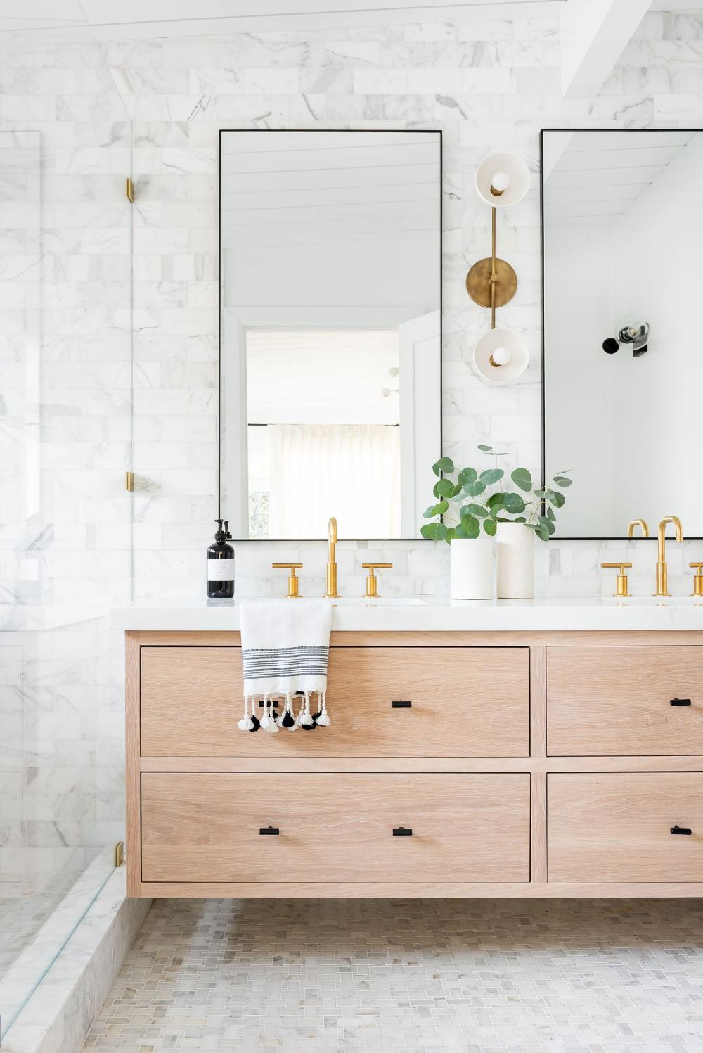 5 Ways To Make Your Home Feel Custom Studio Mcgee Bathroom Inspiration Bathroom Design Bathroom Interior