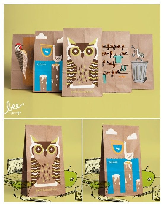 DIY fabric snack/lunch bags | Paper, Bee, Brown paper