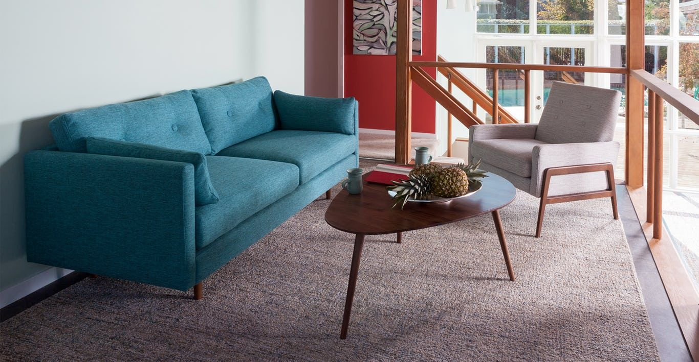 Down Filled Cushions Are Kept In Check By The Clean Lines Of This  Mid Century Modern Sofa. No Fuss Upholstery And A Neatly Tufted Button Back  Make For An ...