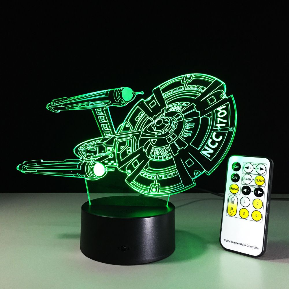 Amazing Star Trek Led 3d Light Remote Switch Table Lamp Night Lights For Children Home Bedroom Decor Nightlight Birthday Gift With Images Mood Lamps