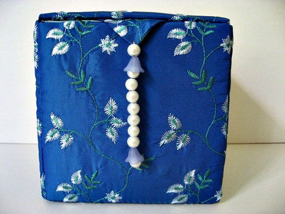 Jewelry Box Girls Jewelry Boxes Fabric jewelry Box by hazelgibbs