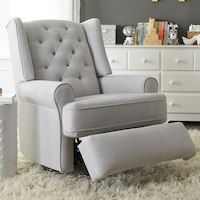 Best Chairs Finley Swivel Glider Recliner Gray Tweed 640 x 480