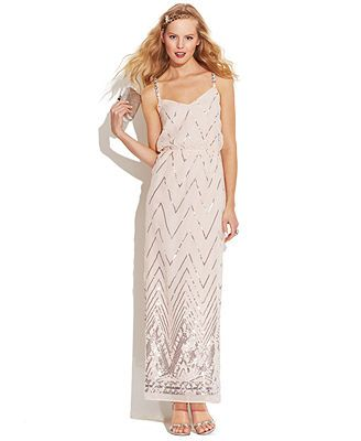 As U Wish Juniors\' Sequined Back-Cutout Dress good for potential ...