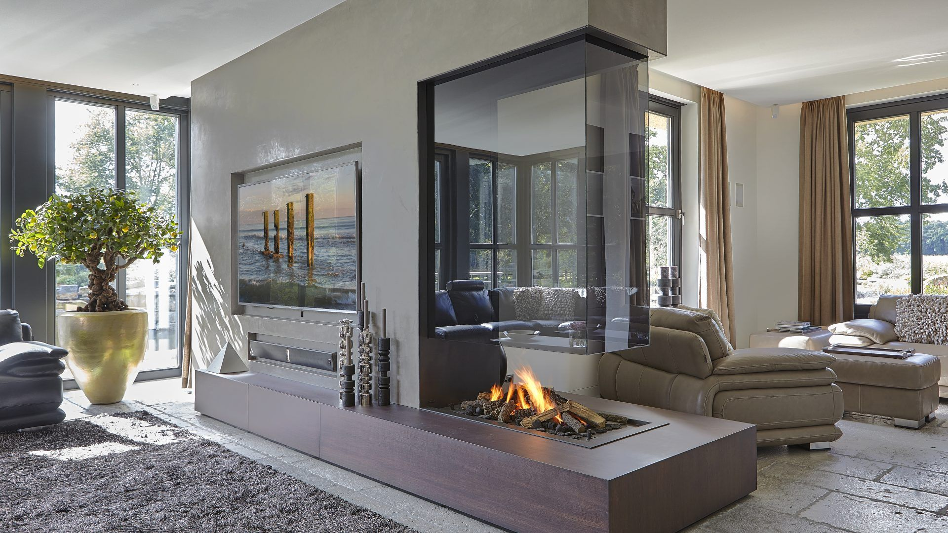 Double Sided Fireplace I Two Sided Fireplace   Home ...