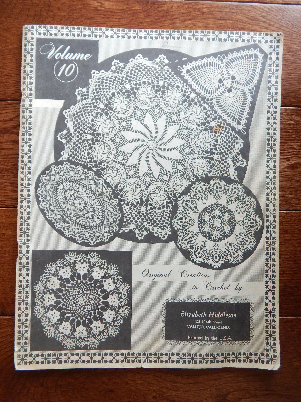 Vintage Crochet Doily Patterns by Elizabeth Hiddleson/ Original ...