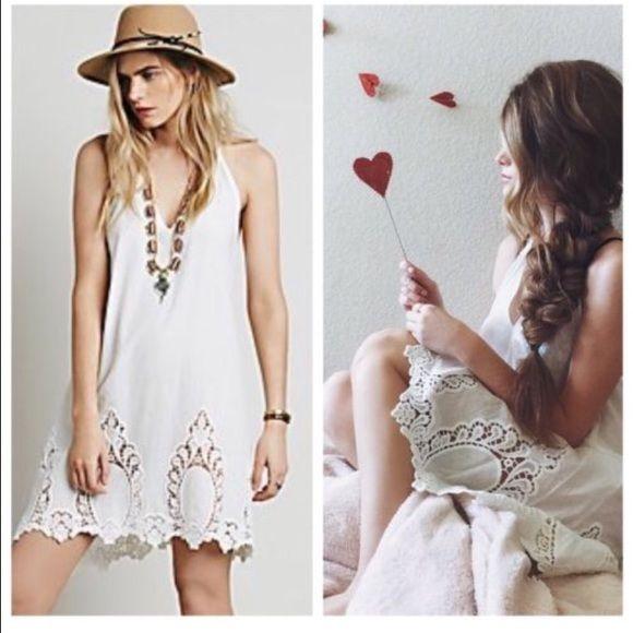 Free People Slip Dress Cotton Eyelet Easy Living Nwt Free People Dress Dresses Slip Dress