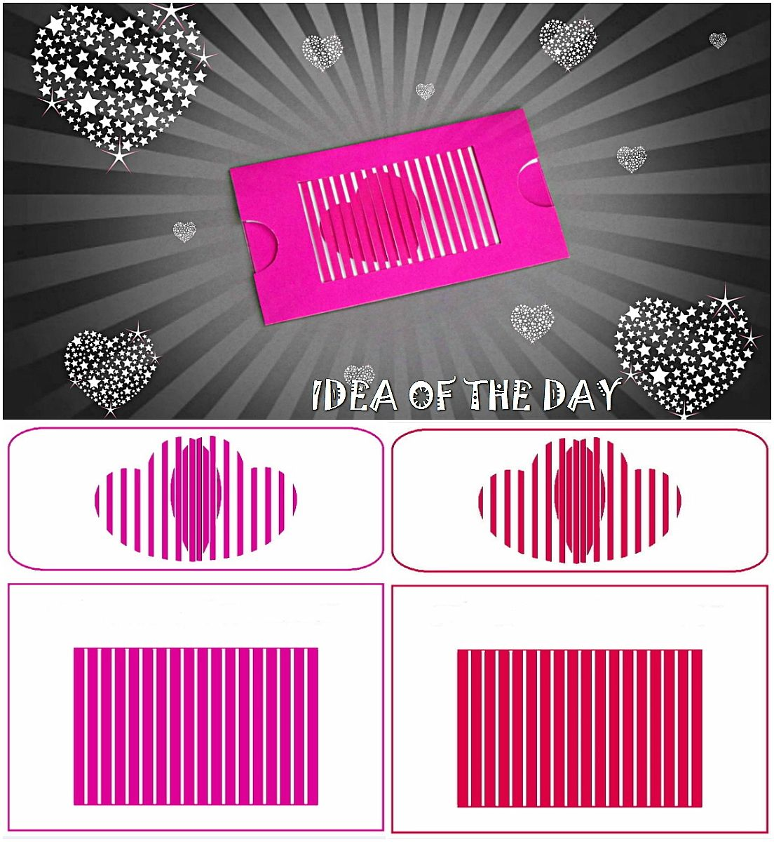 TEMPLATE FOR ANIMATED CARD WITH OPTICAL ILLUSION This template for ...