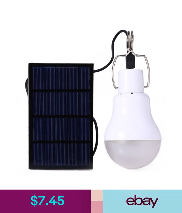 Light Bulbs S 1200 15w 130lm Portable Led Bulb Light Charged Solar Energy Lamp Camping Ebay Home G Portable Led Lights Camping Led Light Light Solar Energy
