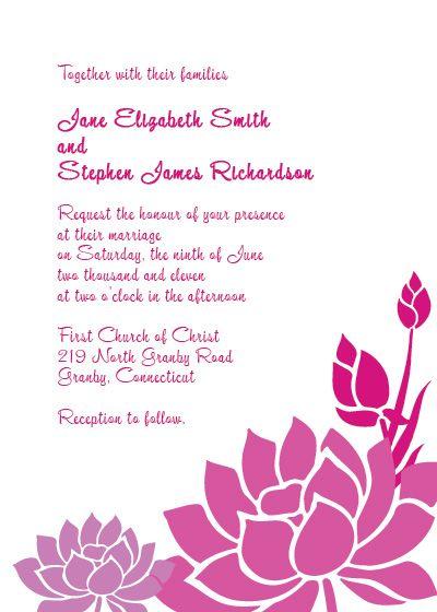 Pink and purple lotus flower invitation sample free printable pink and purple lotus flower invitation sample mightylinksfo Gallery