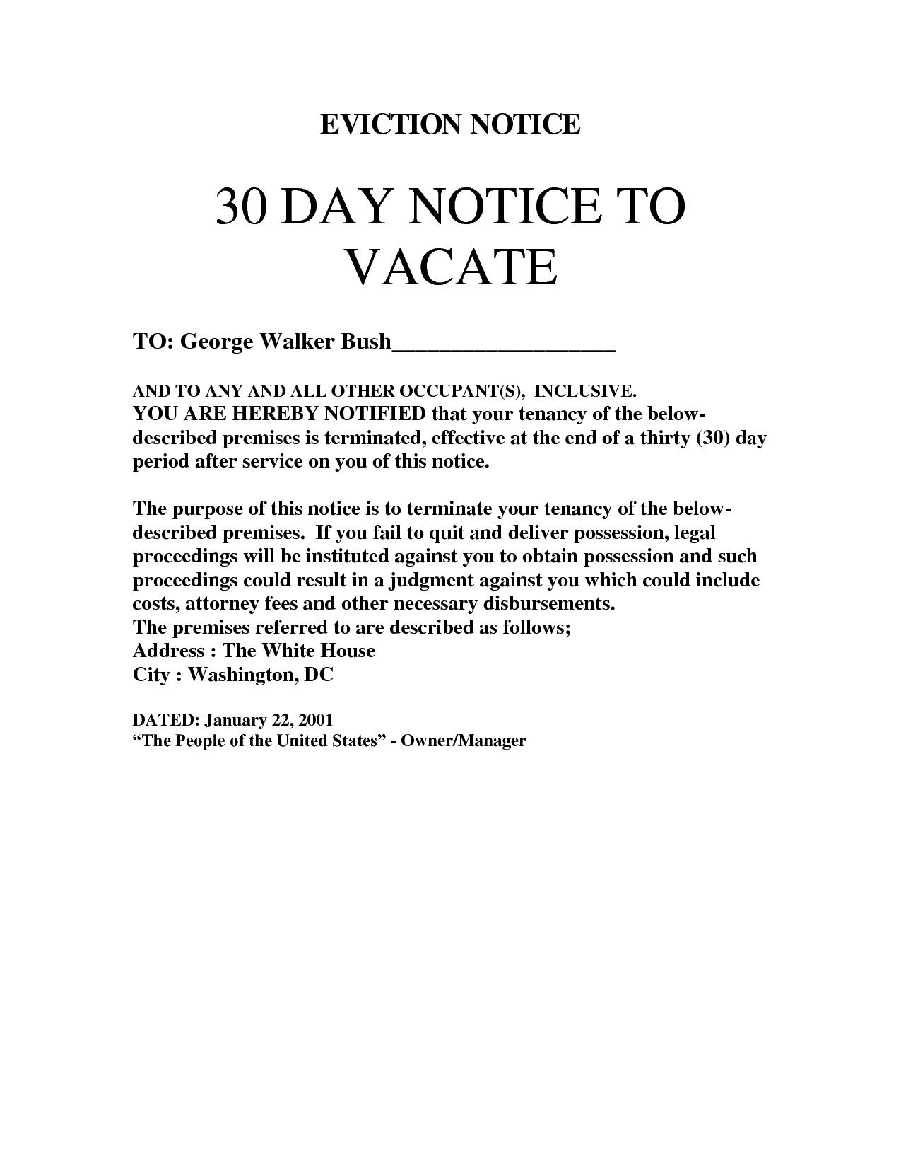 Image result for 30 day eviction letter | letter evict | Pinterest