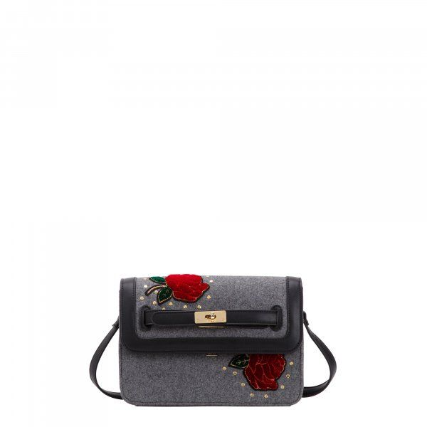 taglia 40 9642e 343bb Pattina rosso/multicolor a tracolla donna - DAFNE - Borse ...