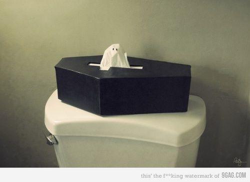 spooky kleenex