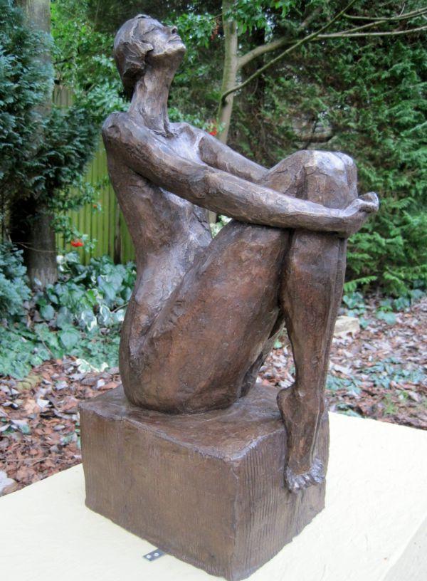 Bronze Resin Garden Sculpture By Artist Judy Ann Cropper Titled