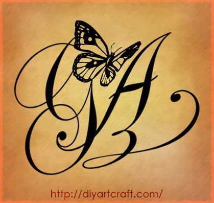 Ag Letters Tattoo Designs By Diyartcraft Com Tags Tattoos
