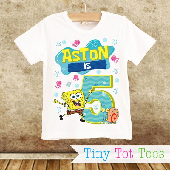Spongebob T Shirts 1 Year Birthday Hey I Found This Really Awesome Etsy Listing At