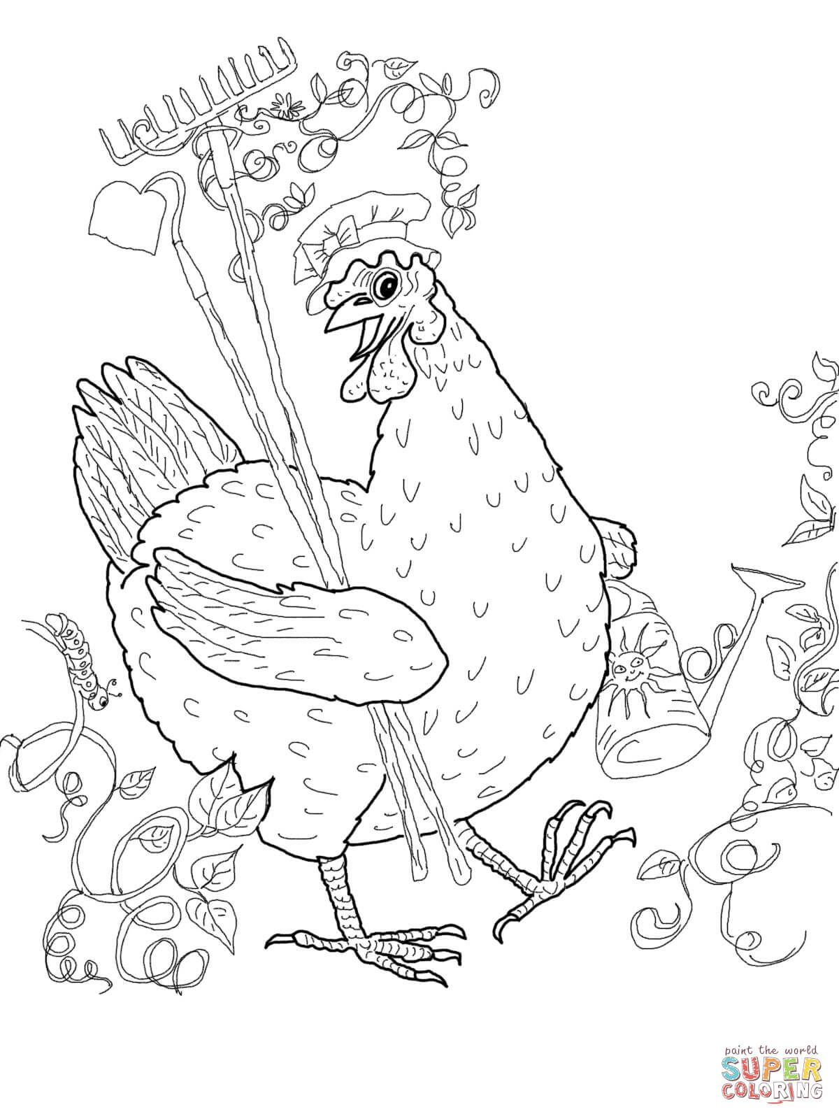 Little Red Hen Coloring Pages Free Coloring Pages (With Images