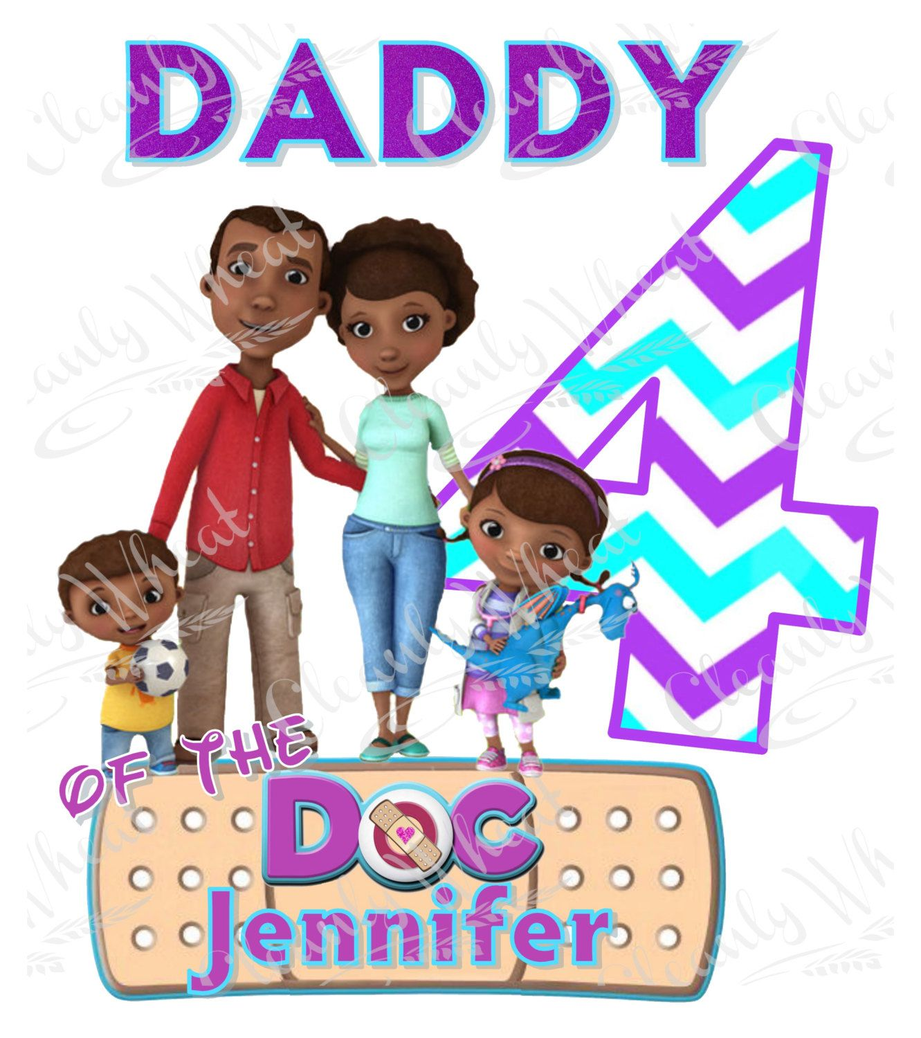 T-shirt Disney Doc Mcstuffins Iron On Transfer Printable Dad of the Birthday Girl digital download Personalized, Doc Mcstuffins shirt by CleanlyWheat on Etsy