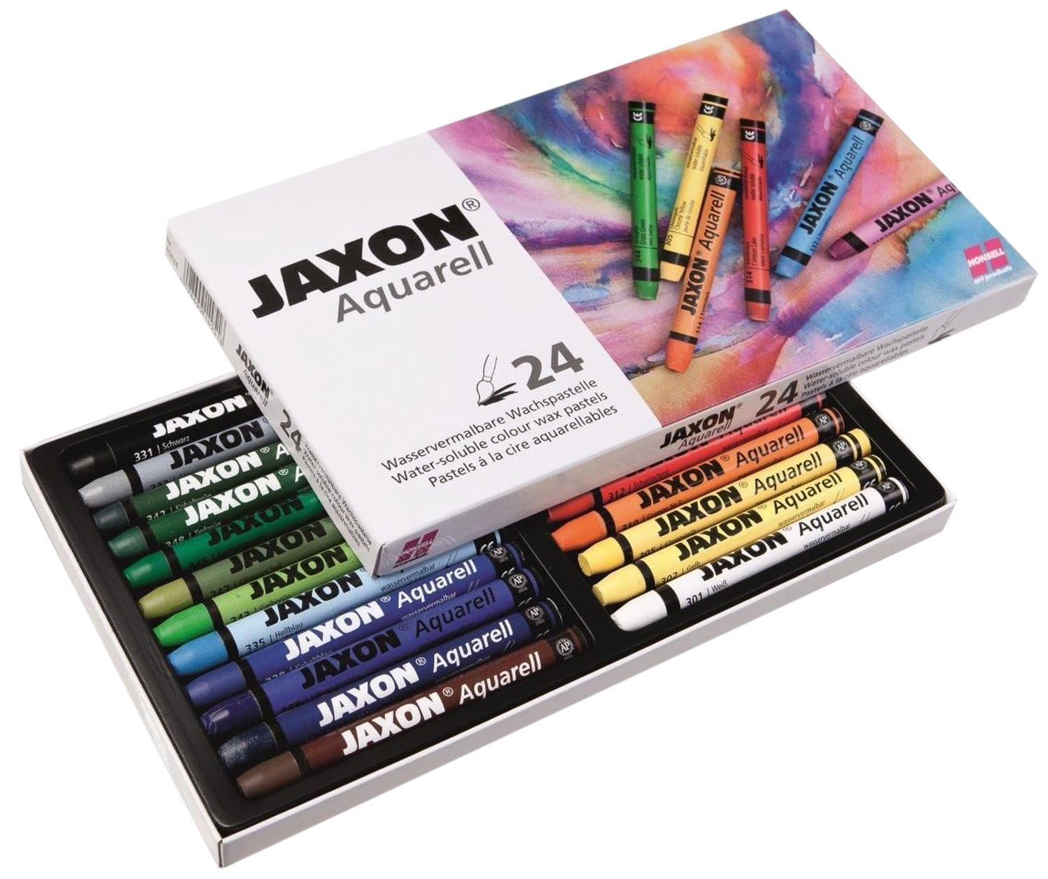 Jaxon By Honsell 49436 Aquarell Wachspastelle 24er Set