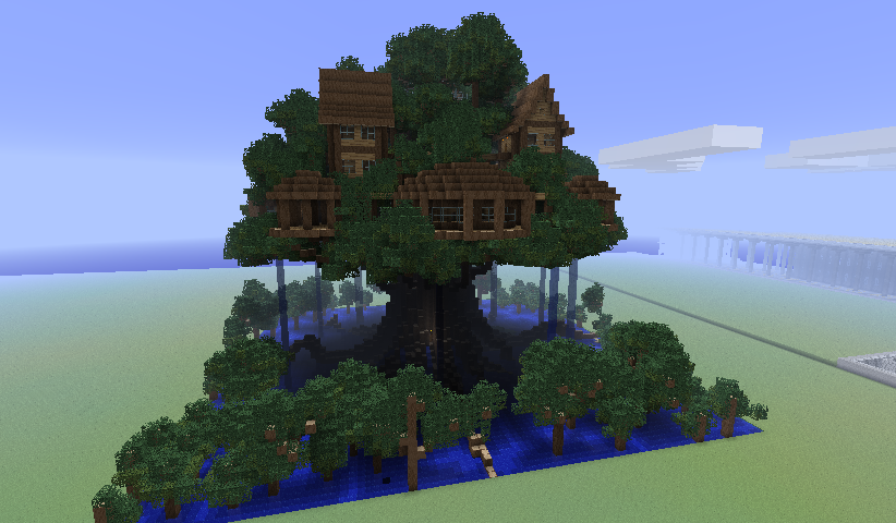 Minecraft Treehouse Schematic Minecraft Houses Minecraft