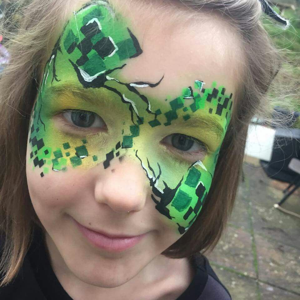 Shelley Gray Minecraft Face Painting Design  Face painting