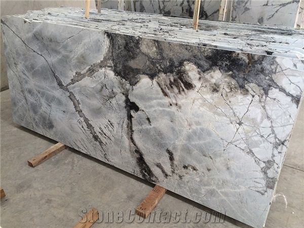 Marble Iceberg White Grey From Turkey Marble Slab Stone Countertops Grey Marble