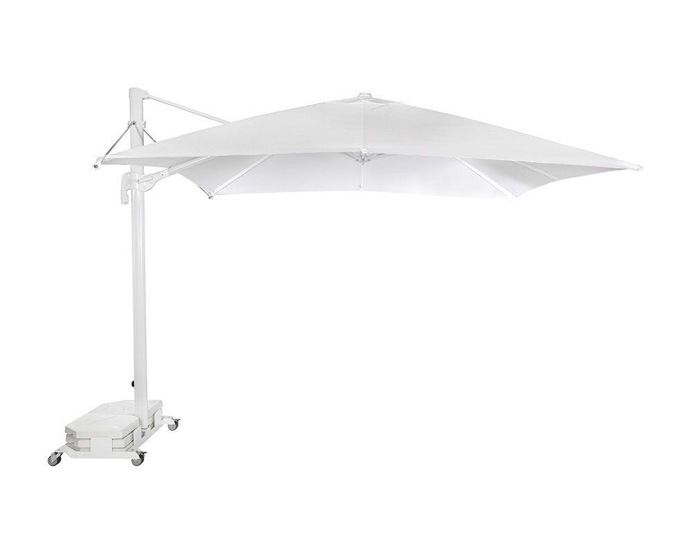 Parasol Lateral Flexo Blanco 300 X 300 Base Flexo Bar