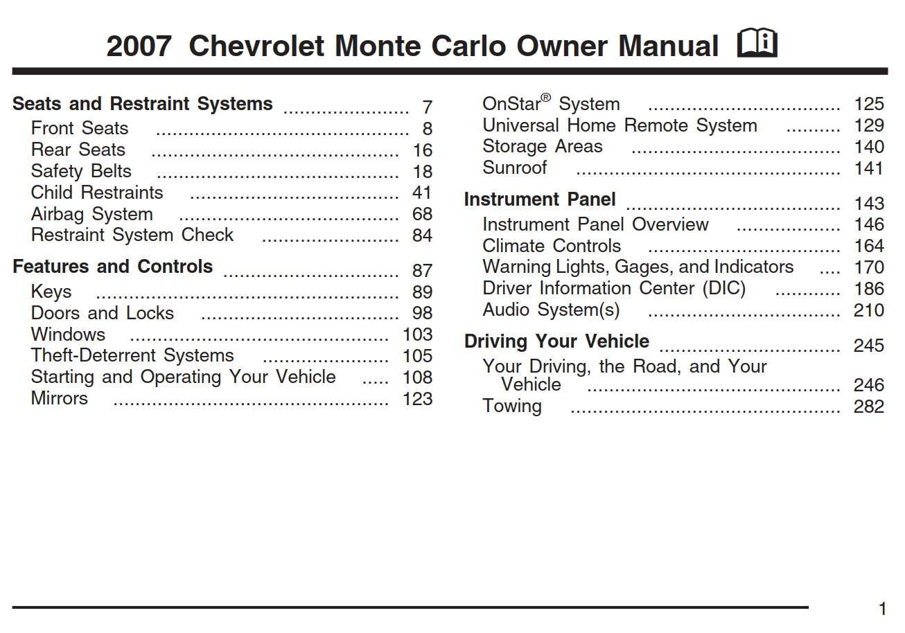 Chevrolet Monte Carlo 2007 Owner S Manual Has Been Published On Procarmanuals Com Https Procarmanuals Com Owners Manuals Chevrolet Silverado Chevrolet Malibu