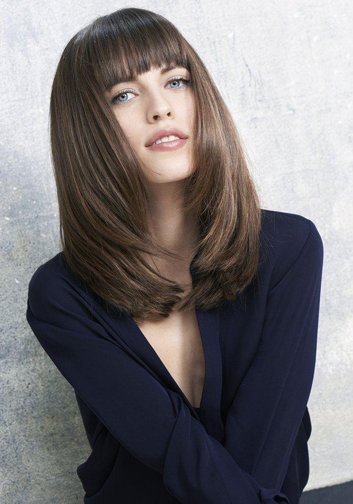 image coupe mi longue cheveux fin en 2019 Coupe cheveux